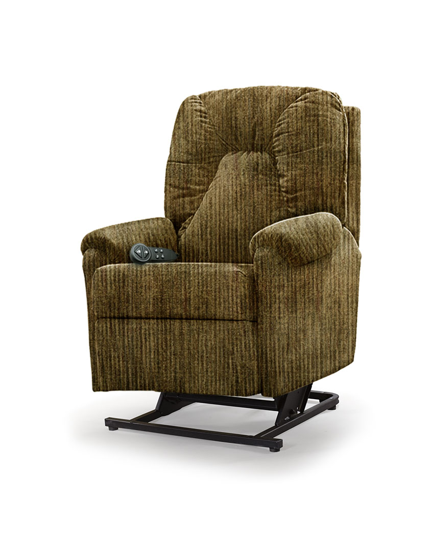 כורסת סטנד אפ חשמלית כורסא סיעודית LP1 רילקסון תוצרת קנדה - חום ירוק