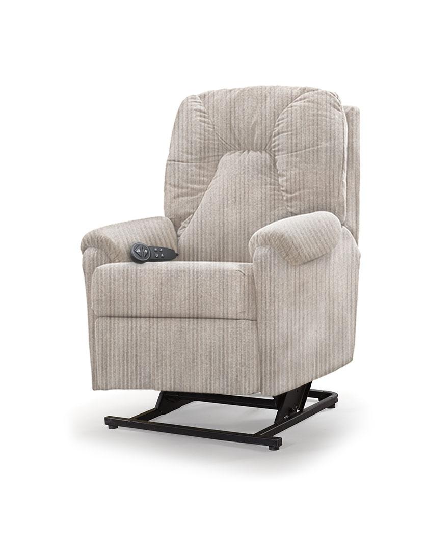 כורסת סטנד אפ חשמלית כורסא סיעודית LP1 רילקסון תוצרת קנדה - קרם לבן