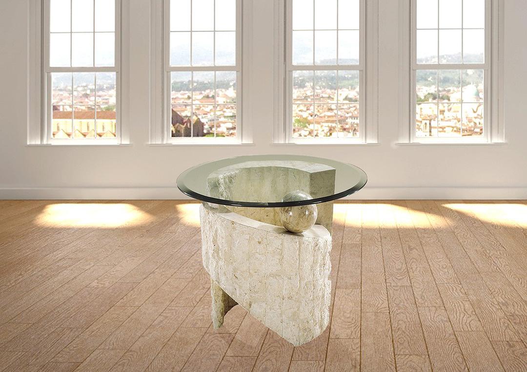 שולחן לטלפון שולחן צד אבן רילקסון דגם יילוסטון פינתי