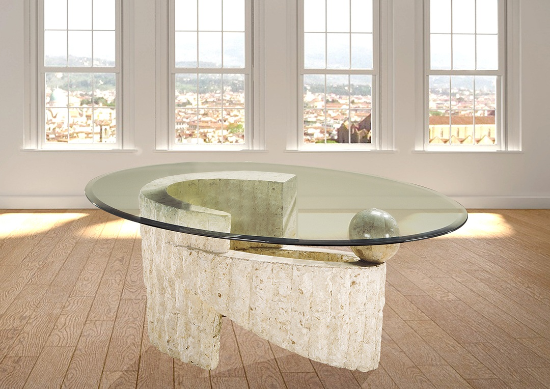 שולחן סלון זכוכית מחוסמת רילקסון דגם יילוסטון