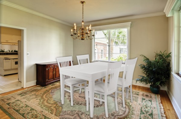 classic diningroom with windows, place your own table