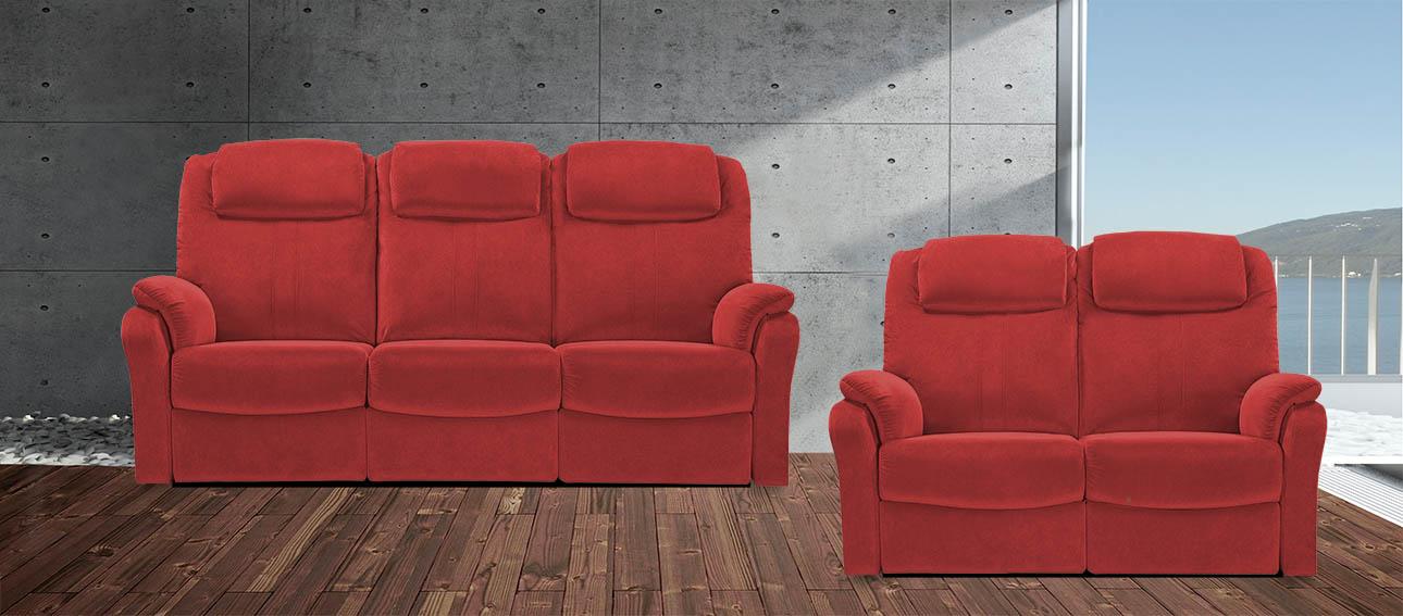 8058 סלון מתכוונן עם ריקליינרים רילקסון קנדה אדום יין 06