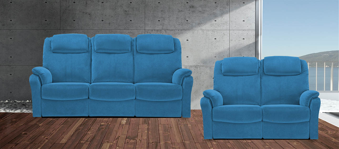 8058 סלון מתכוונן עם ריקליינרים רילקסון קנדה כחול