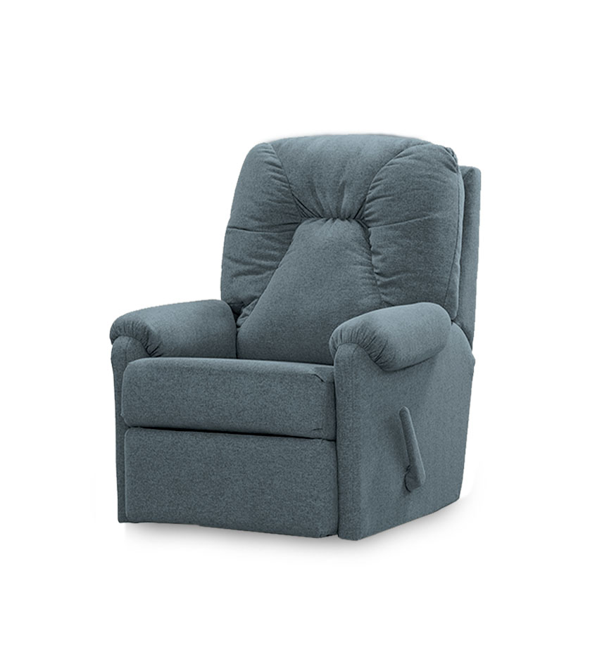 כורסאת טלויזיה קומפקטית ריקליינר רילקסון קנדה 232 פטרול אפור כהה כחול