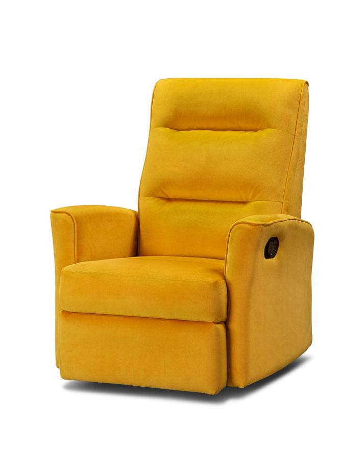 כורסת טלוויזיה מעוצבת קומפקטית רילקסון קנדה צרה לא גדולה 342 צהוב חרדל