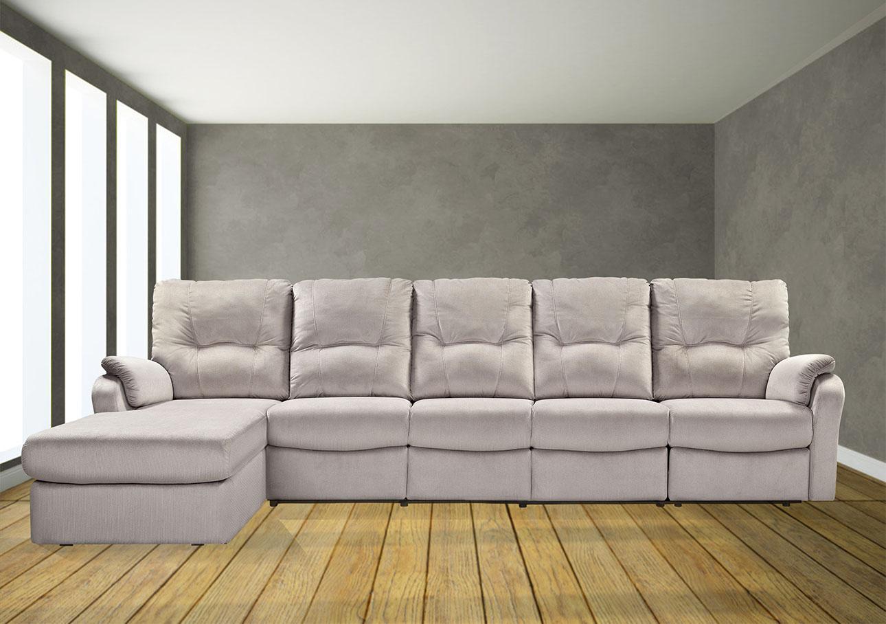 ספת שזלונג גדולה 5 מושבים עם ריקליינרים רילקסון קנדה דגם 8099