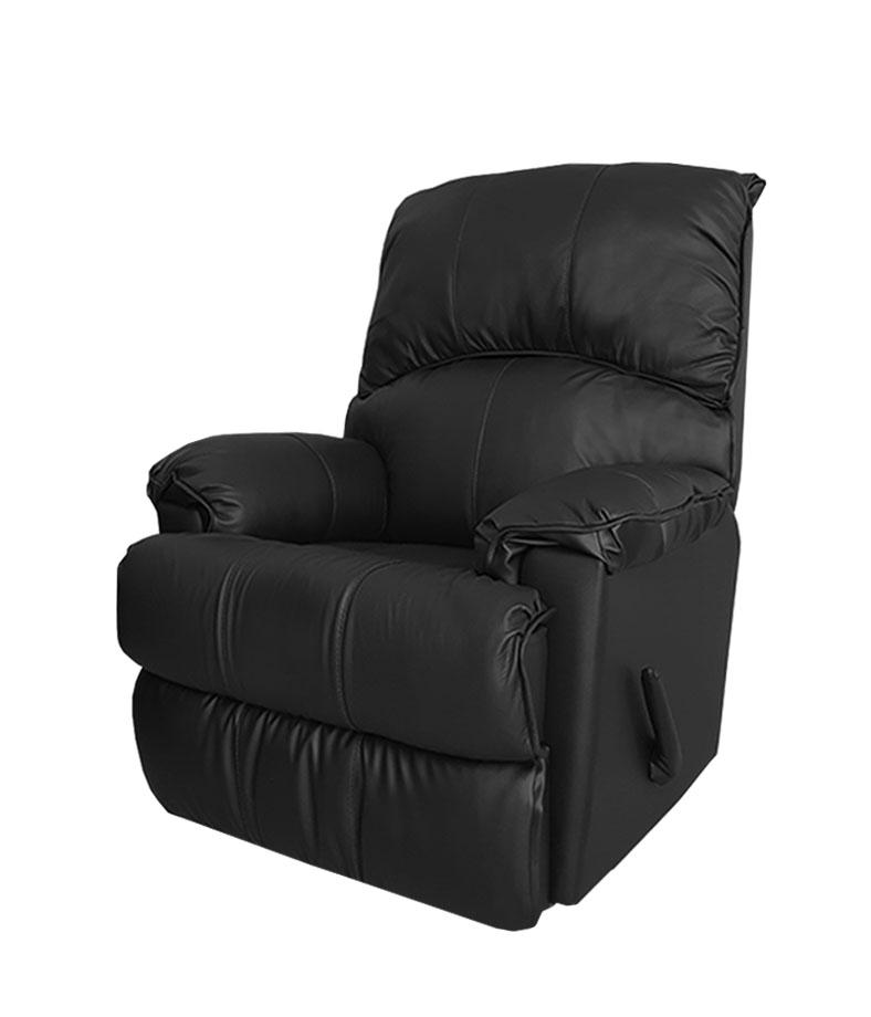 602 רילקסון קנדה עור שחור כורסא כורסת טלויזיה כורסת טלוויזיה