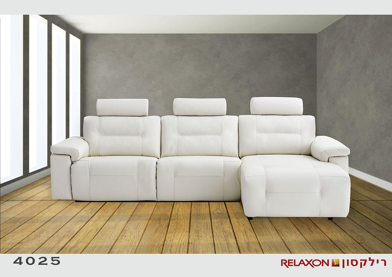 ספת שזלונג עם ריקליינרים 4025 3 מושבים רחבים רילקסון קנדה