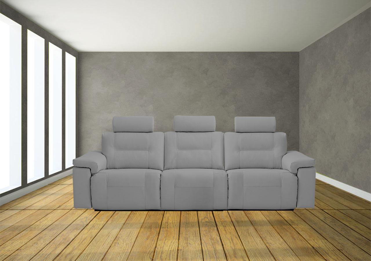 ספת 3 מושבים רגילים אפורה ריקליינרים 4025 רילקסון קנדה