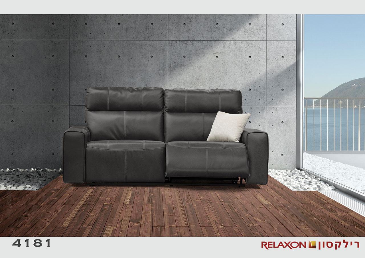 4181 ספת 2 מושבים רחבים אפור כהה