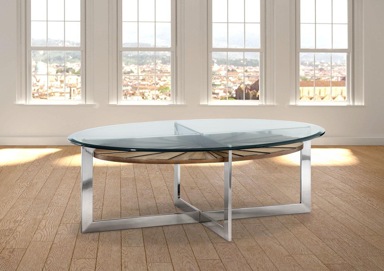 צ'רצ'יל - שולחן סלוני אובלי