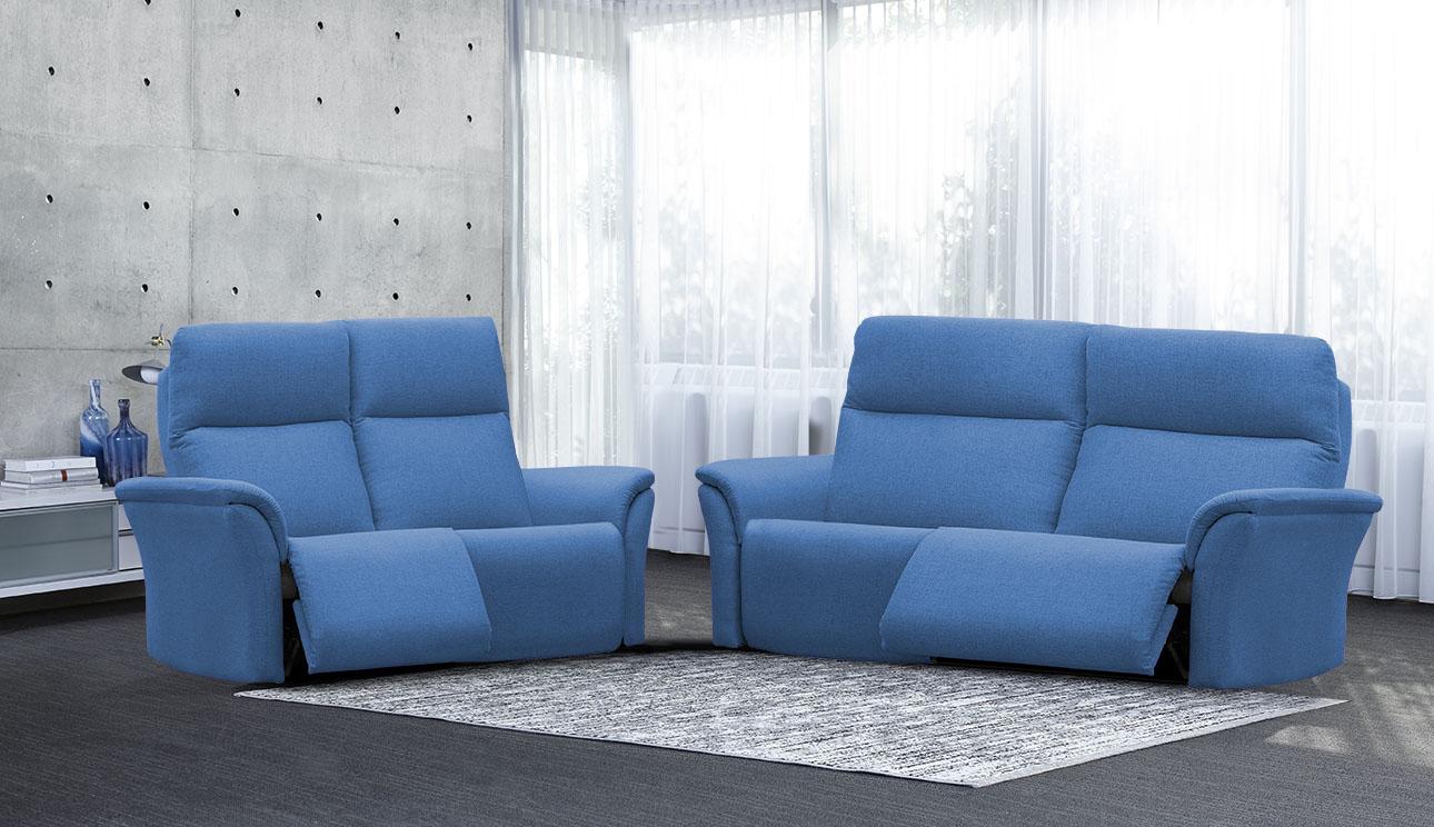 4098 סלון מתכוונן עם ריקליינרים וראשים מתכווננים רילקסון קנדה בצבע כחול