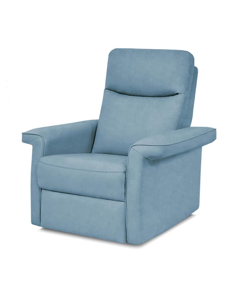 כורסת טלויזיה מעוצבת רילקסון קנדה - פרימיום 852 עור אמיתי מעונן צבע 07 כחול