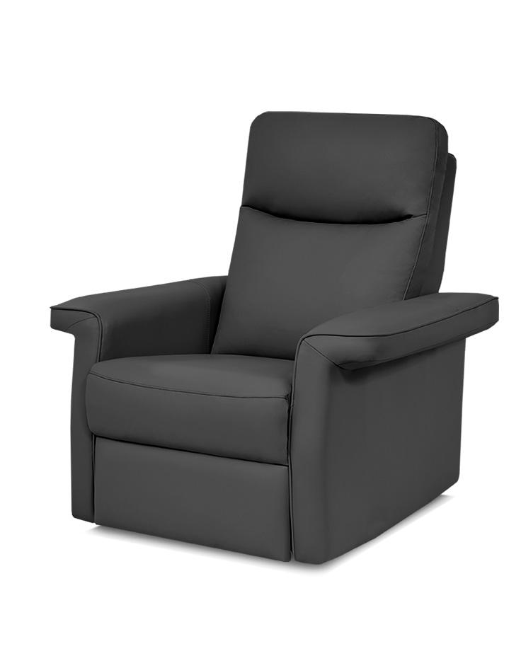 כורסת טלויזיה מעוצבת רילקסון קנדה - פרימיום 852 עור אמיתי שחור