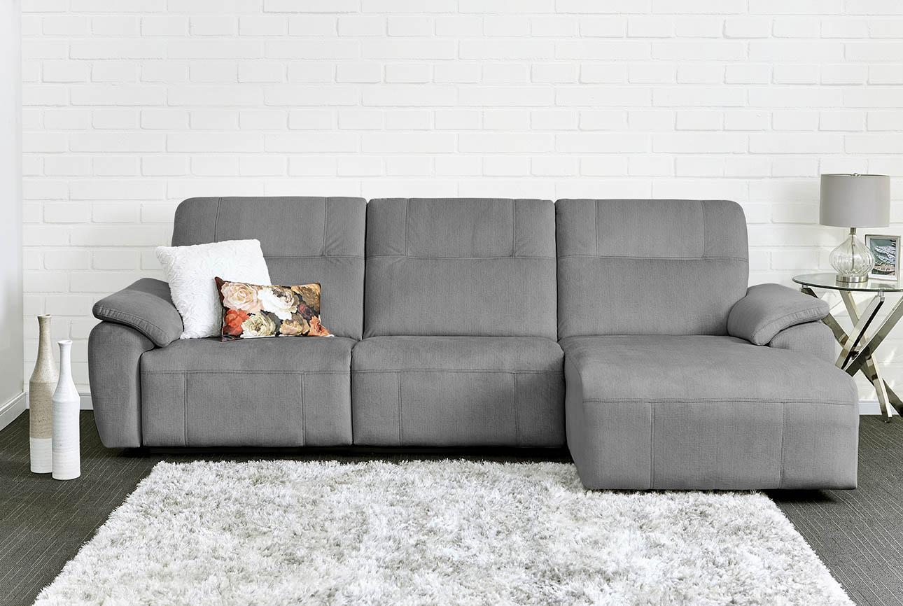 רילקסון קנדה ספה ארוכה עם ריקליינרים שזלונג 4007 - אפור כהה