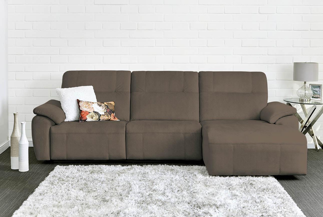 רילקסון קנדה ספה ארוכה עם ריקליינרים שזלונג 4007 -חום