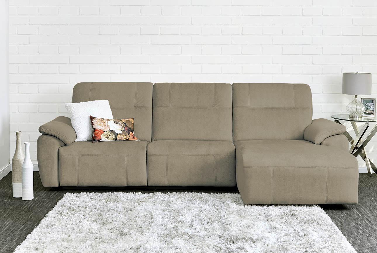 רילקסון קנדה ספה ארוכה עם ריקליינרים שזלונג 4007 - חום