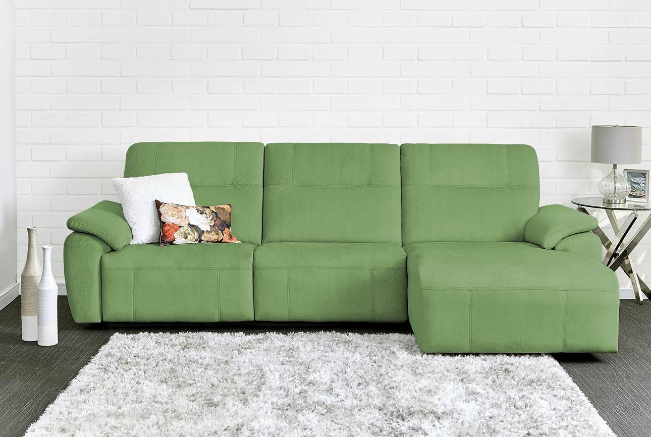 רילקסון קנדה ספה ארוכה עם ריקליינרים שזלונג 4007 - ירוק
