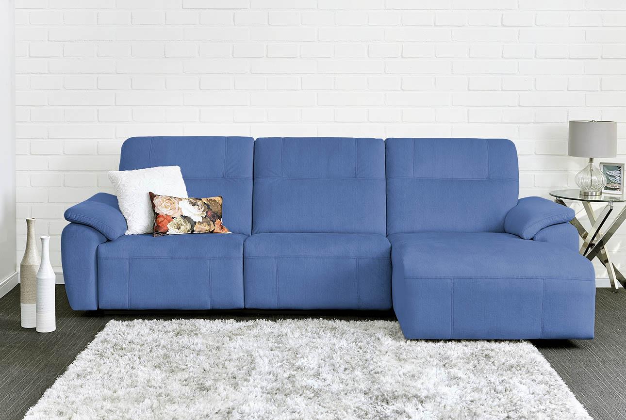רילקסון קנדה ספה ארוכה עם ריקליינרים שזלונג 4007 - כחול 07
