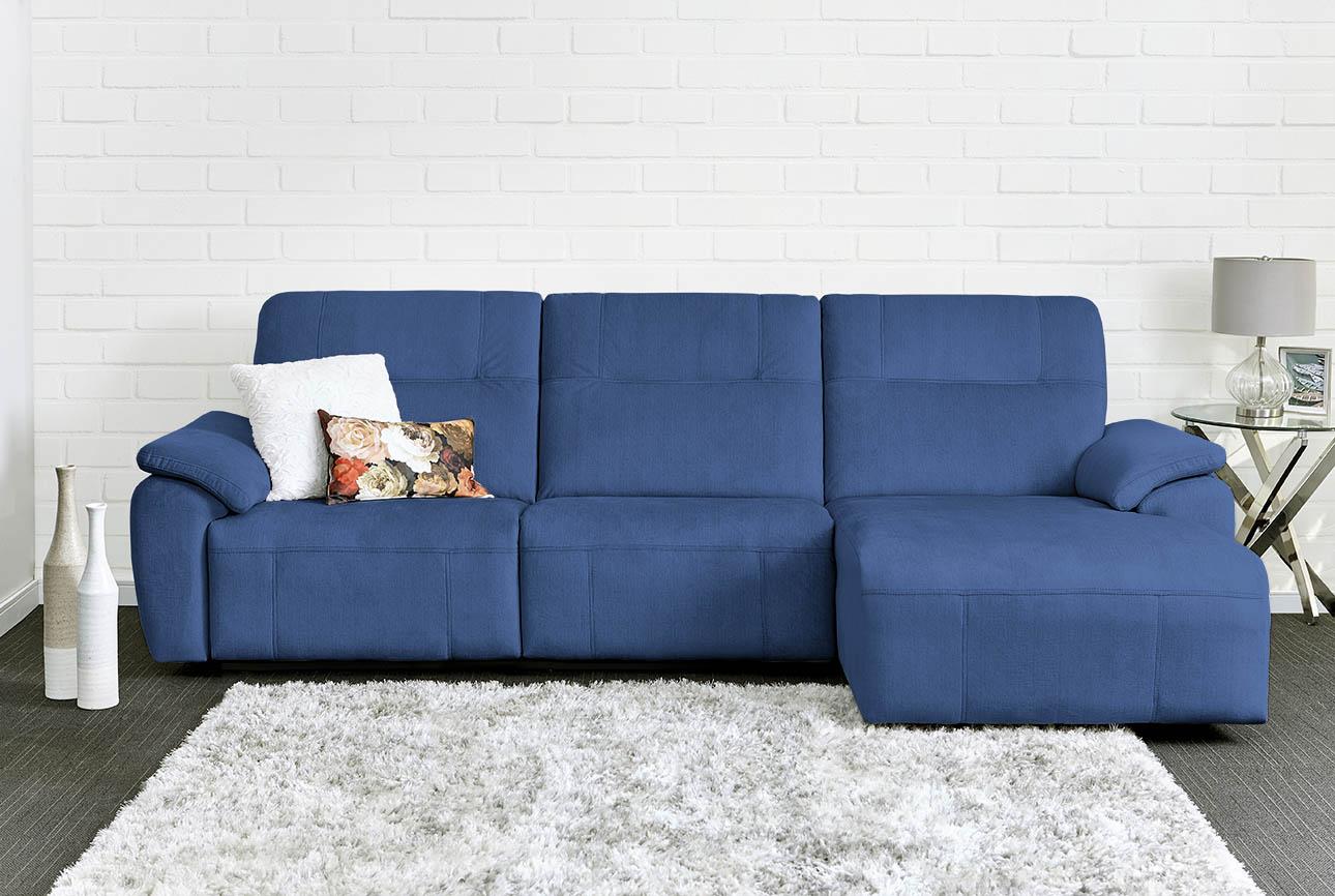 רילקסון קנדה ספה ארוכה עם ריקליינרים שזלונג 4007 - כחול 77
