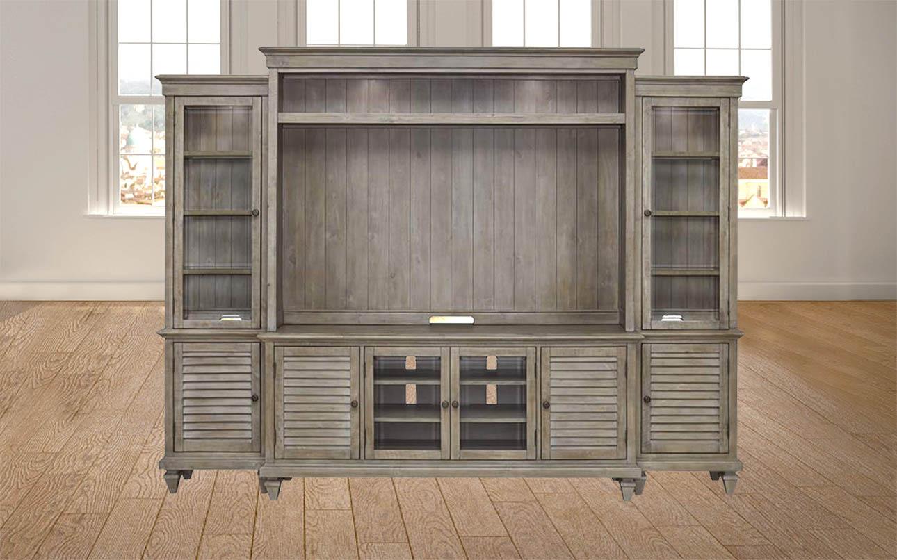 מזנון קיר ענק לסלון- מערכת קיר לסלון עם מקום למסך טלויזיה דגם פרינסטון רילקסון קנדה עץ מלא