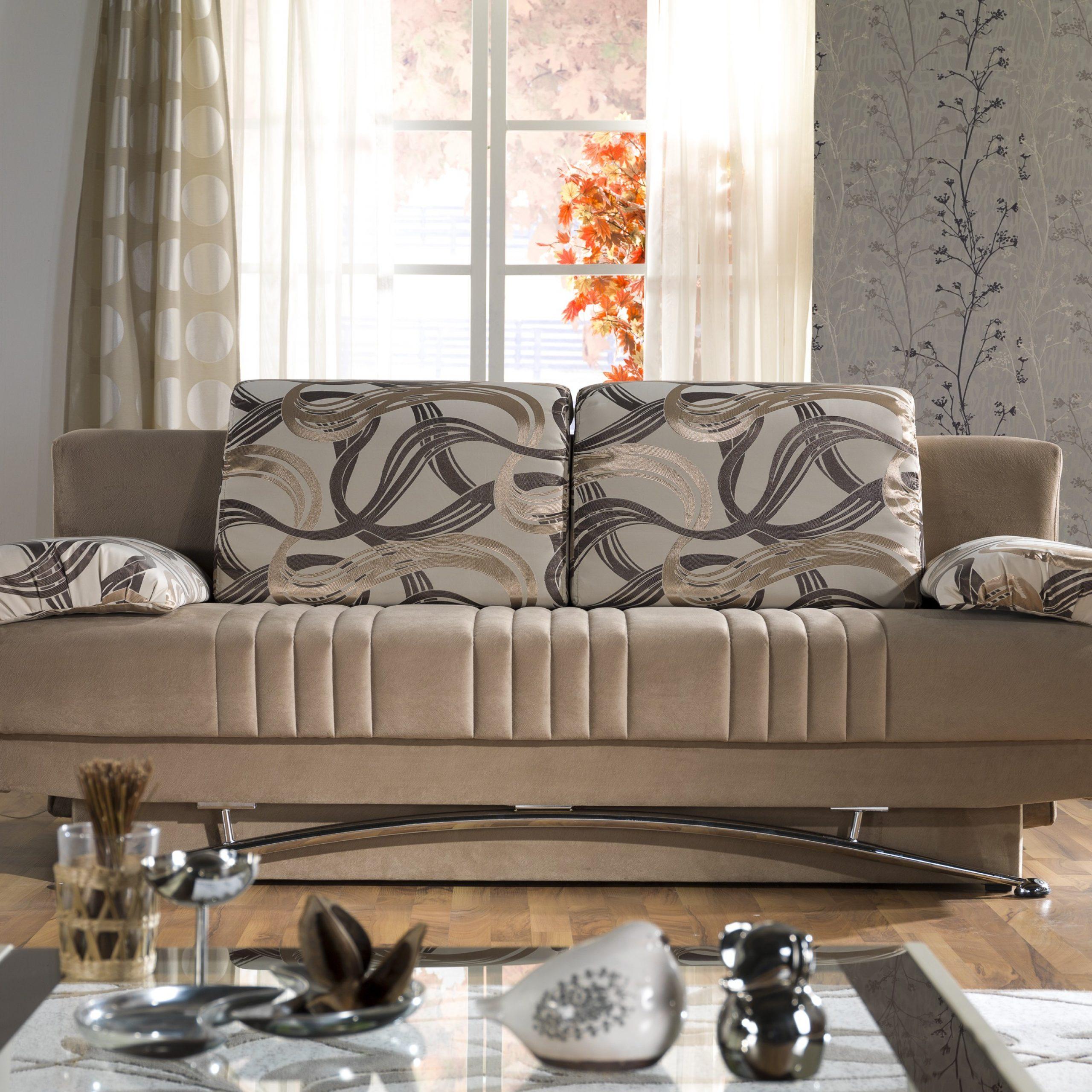 ספה נפתחת למיטה מושבית מפוארת