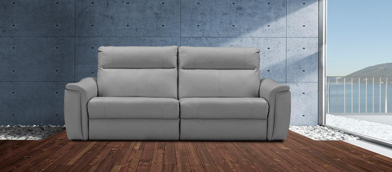 ספה 4056 רילקסון קנדה מתכווננת ריקליינרים תוצרת קנדה מושבים רחבים אלגנטית מעוצבת אפור בהיר