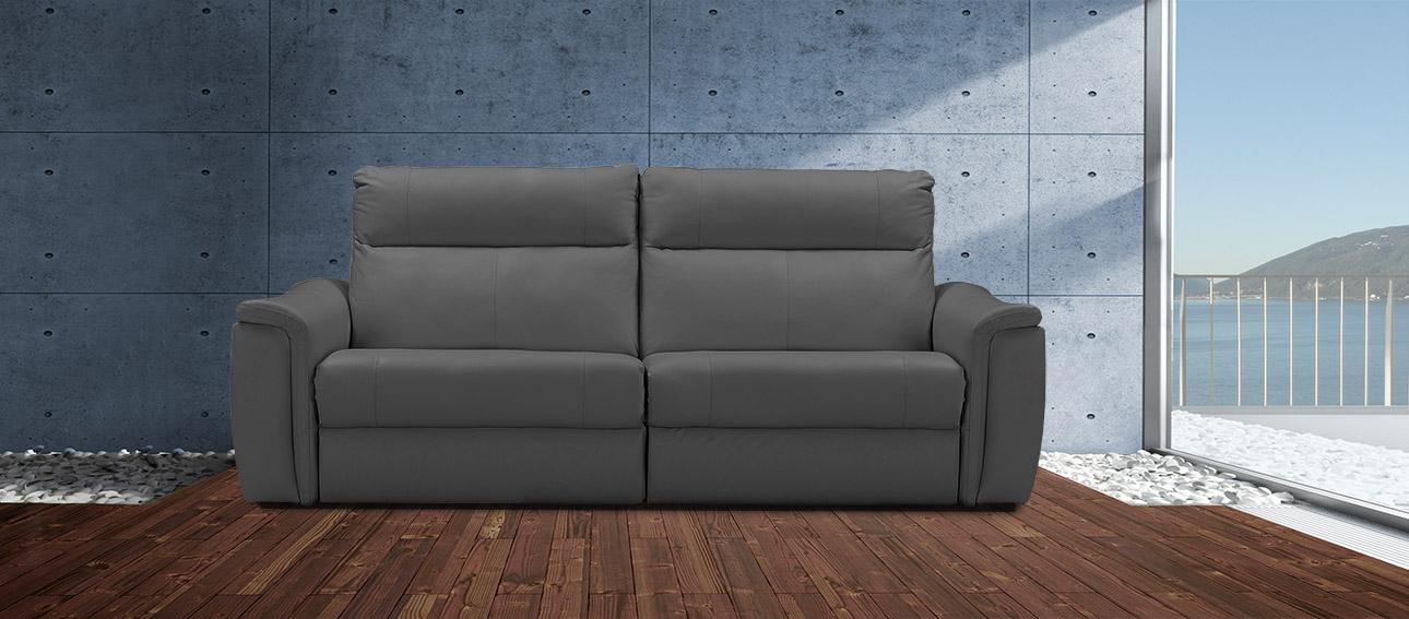 ספה 4056 רילקסון קנדה מתכווננת ריקליינרים תוצרת קנדה מושבים רחבים אלגנטית מעוצבת אפור כהה 61