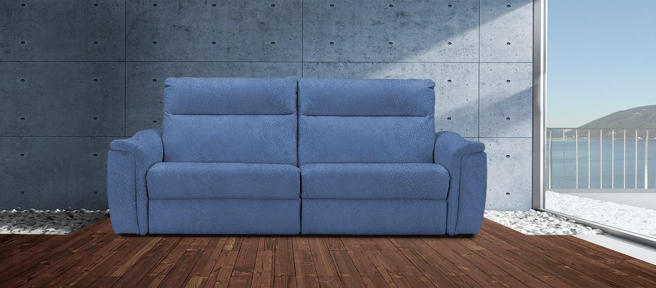 ספה 4056 רילקסון קנדה מתכווננת ריקליינרים תוצרת קנדה מושבים רחבים אלגנטית מעוצבת בד 4724 כחול