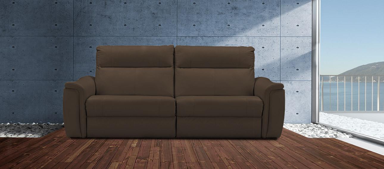 ספה 4056 רילקסון קנדה מתכווננת ריקליינרים תוצרת קנדה מושבים רחבים אלגנטית מעוצבת חום כהה