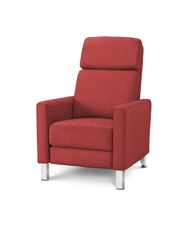 כורסת טלויזיה מעוצבת רילקסון קנדה HO692 אדום בורדו 06 אלגנטית