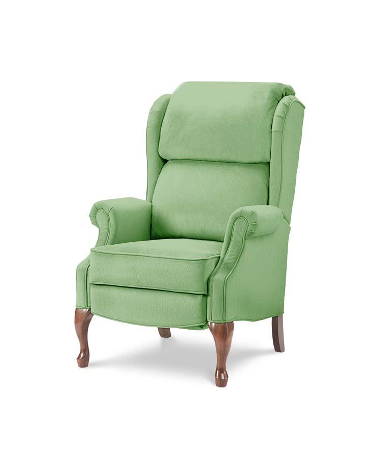 כורסאות טלויזיה מעוצבות קלאסית W ירוק מיקרופייבר