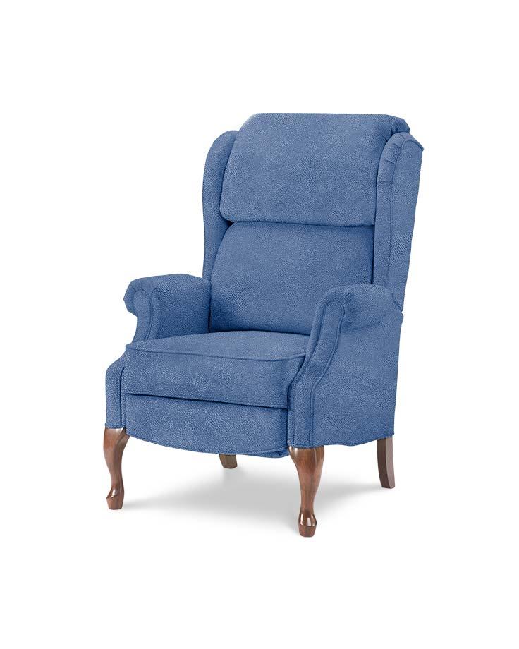 כורסאות טלויזיה מעוצבות קלאסית W כחול מיקרופייבר