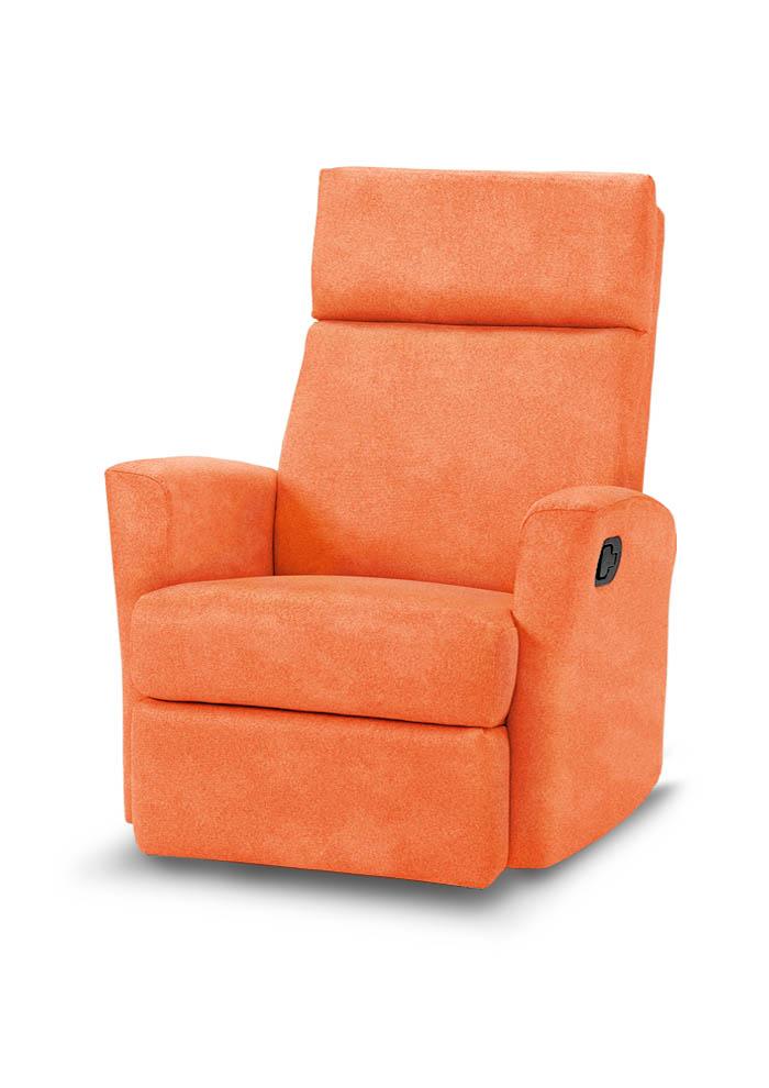 LO852 כורסת טלויזיה רילקסון קנדה צרה במיוחד - כתום קטיפתי תפוז