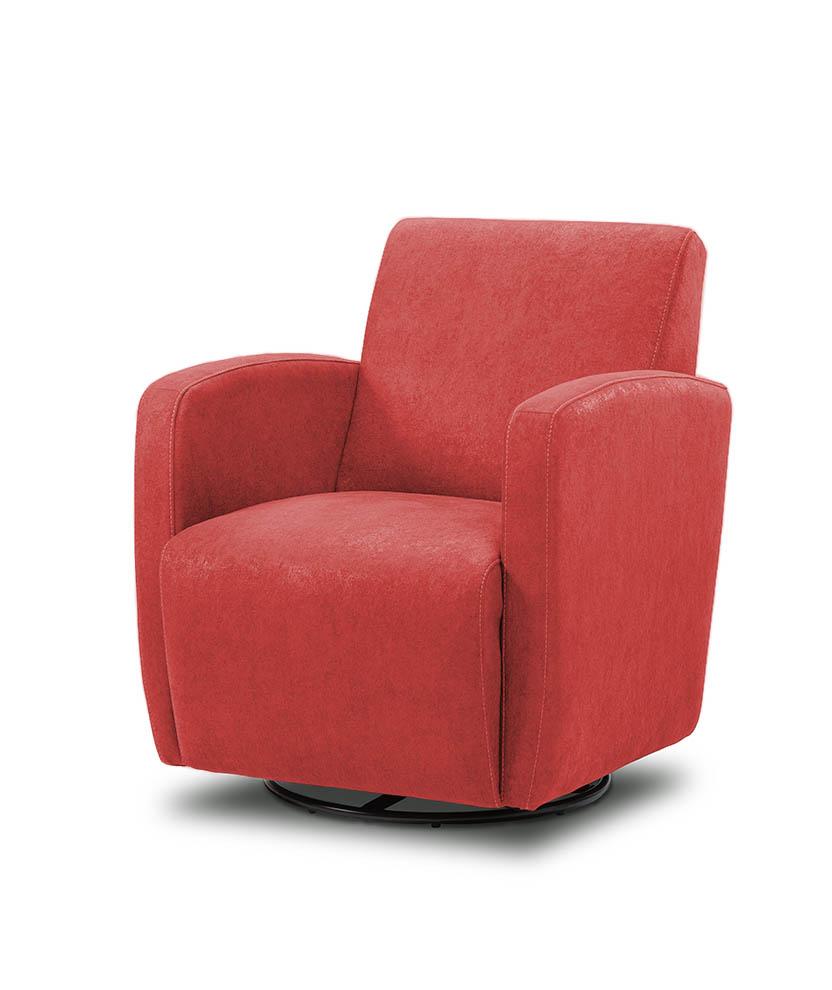כורסת טלויזיה מעוצבת מסתובבת רילקסון קנדה BO102 CUBIC אדום בהיר
