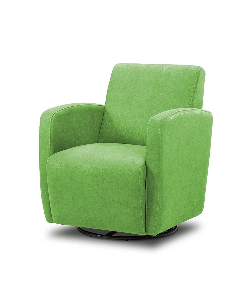 כורסת טלויזיה מעוצבת מסתובבת רילקסון קנדה BO102 CUBIC ירוק