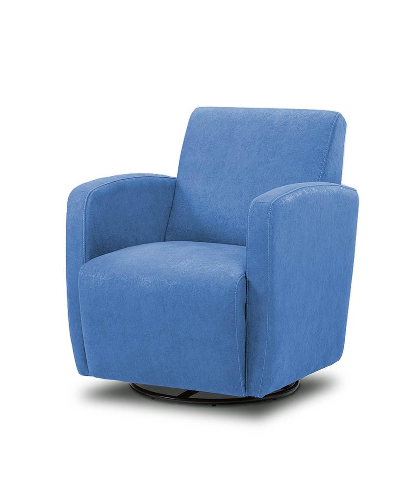 כורסת טלויזיה מעוצבת מסתובבת רילקסון קנדה BO102 CUBIC כחול