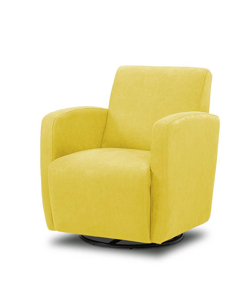 כורסת טלויזיה מעוצבת מסתובבת רילקסון קנדה BO102 CUBIC צהוב
