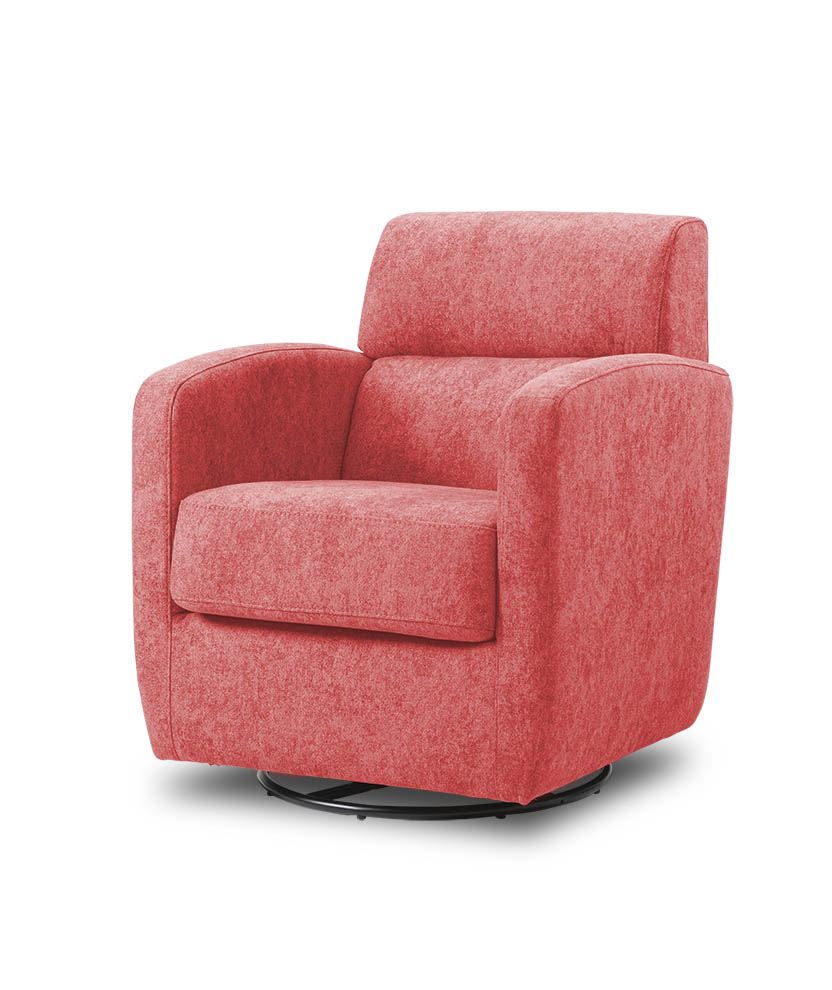 כורסת טלויזיה מעוצבת מסתובבת רילקסון קנדה BO302 CUBIC אדום בהיר