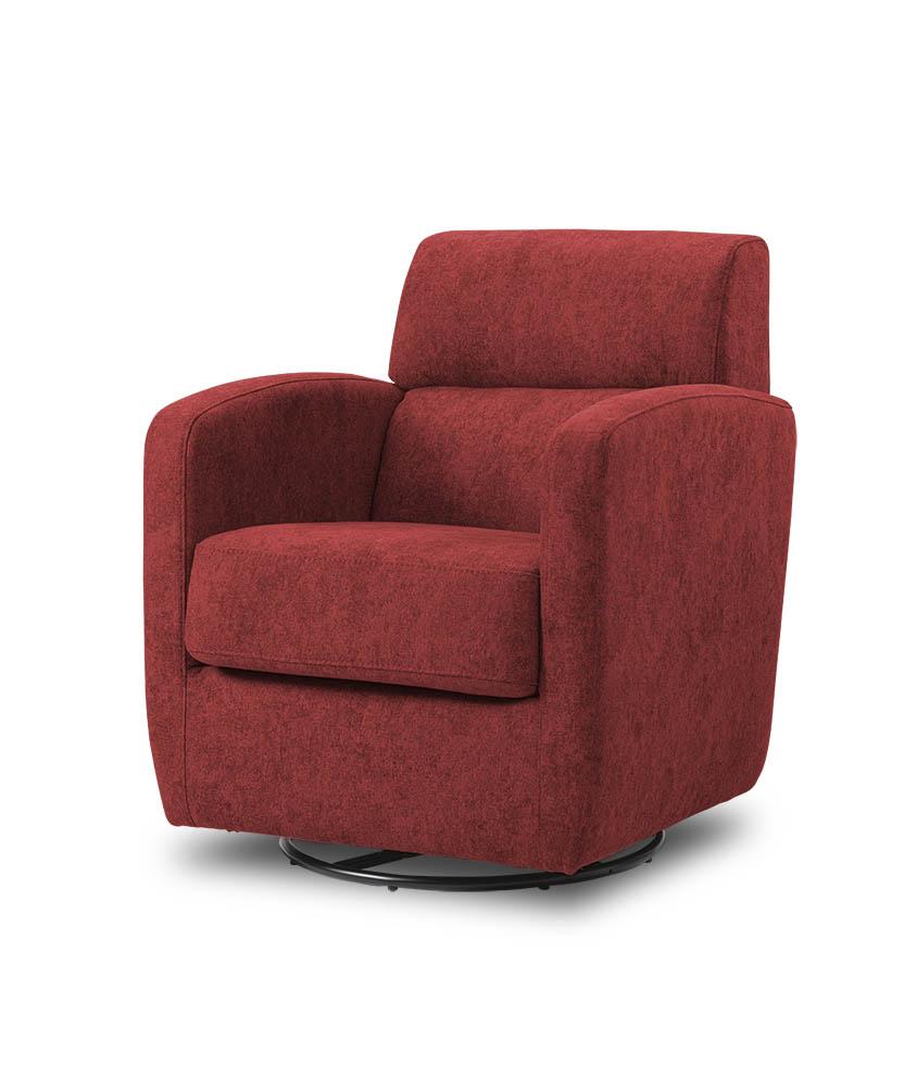 כורסת טלויזיה מעוצבת מסתובבת רילקסון קנדה BO302 CUBIC אדום