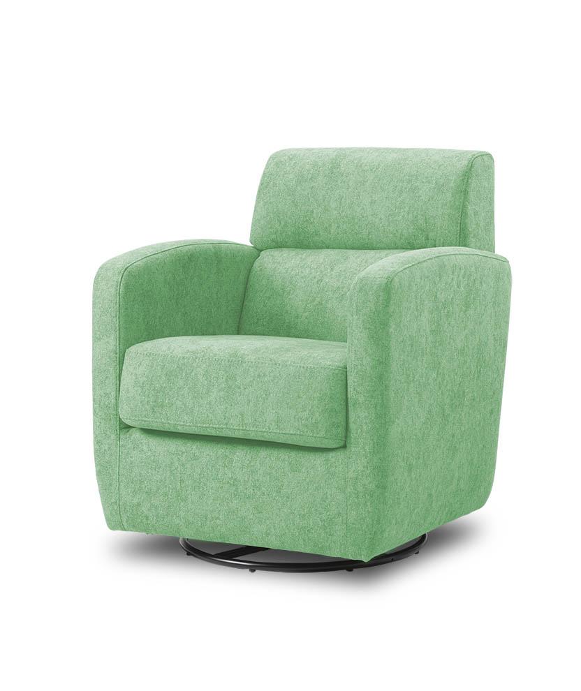 כורסת טלויזיה מעוצבת מסתובבת רילקסון קנדה BO302 CUBIC ירוק בהיר