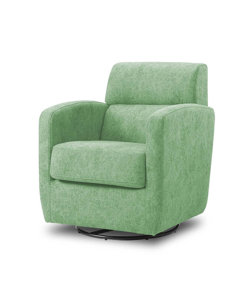 כורסת טלויזיה מעוצבת מסתובבת רילקסון קנדה BO302 CUBIC ירוק