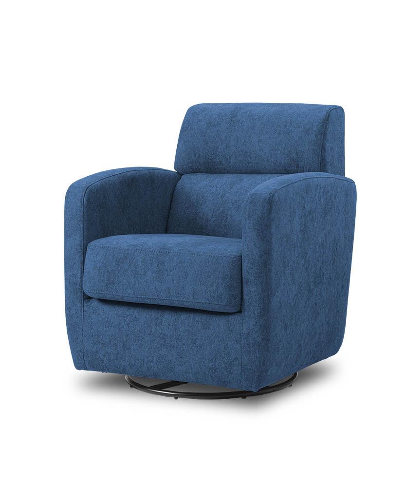 כורסת טלויזיה מעוצבת מסתובבת רילקסון קנדה BO302 CUBIC כחול כהה