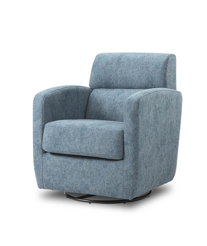 כורסת טלויזיה מעוצבת מסתובבת רילקסון קנדה BO302 CUBIC כחול