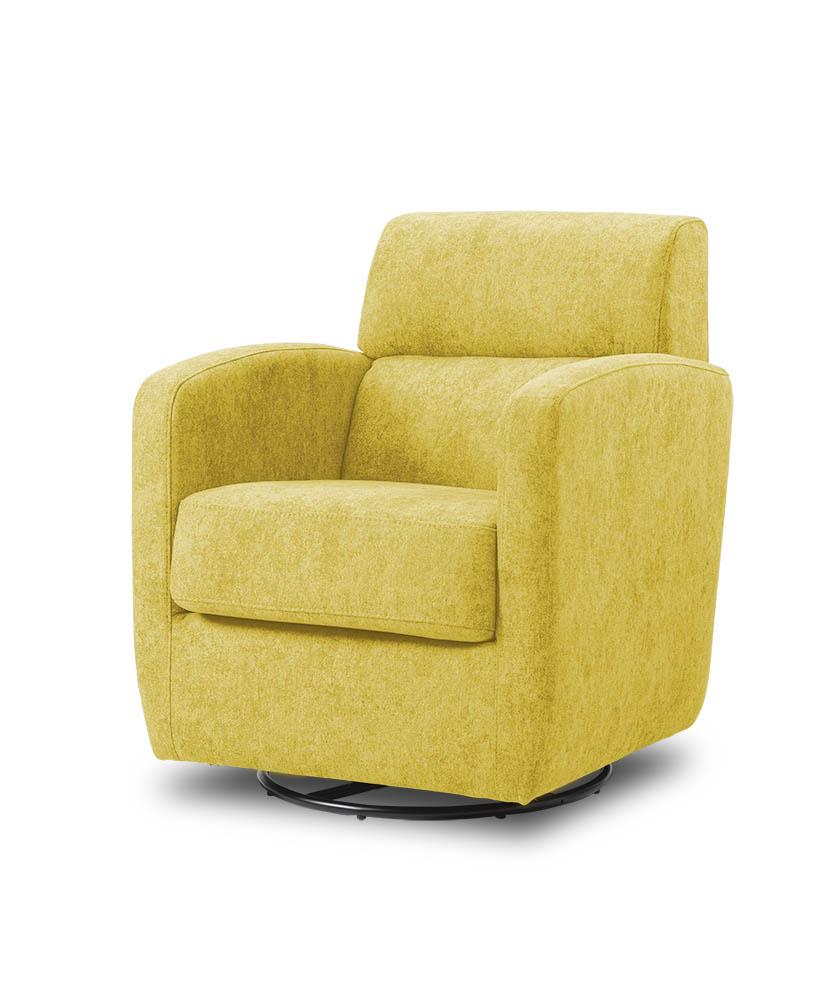 כורסת טלויזיה מעוצבת מסתובבת רילקסון קנדה BO302 CUBIC צהוב