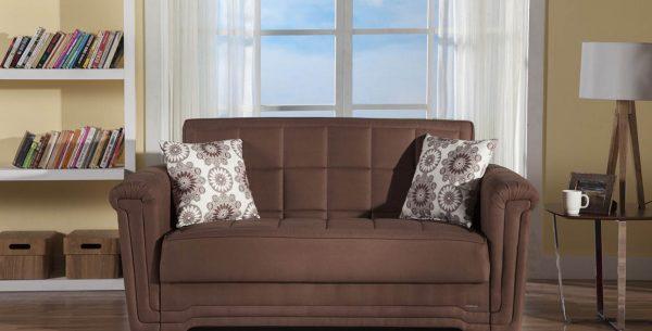 ספה דו מושבית נפתחת למיטה בעיצוב מודרני