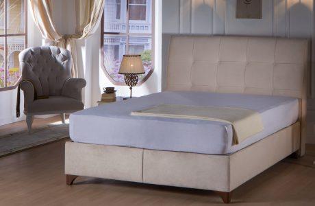 מיטה מרופדת זוגית – ארגזי מצעים