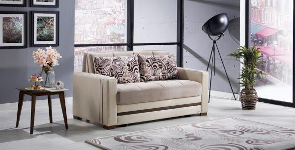 ספה דו מושבית מפוארת נפתחת למיטה