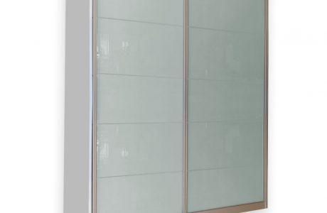 ארון הזזה מעוצב – זכוכית חלבית